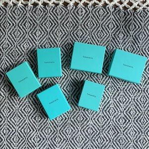 6 Tiffany&Co Blue Box Jewlery Boxes Packaging